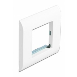 DELOCK module βάση πρίζας με frame Easy 45 81300, 80x80mm, λευκό