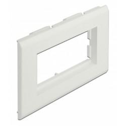 DELOCK module βάση πρίζας Easy 45 81316, 130 x 80 mm, λευκό