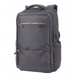 ARCTIC HUNTER τσάντα πλάτης B00107-BK με θήκη laptop, αδιάβροχη, μαύρη