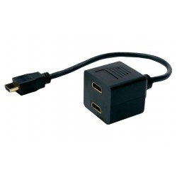 POWERTECH HDMI Splitter 19pin male / 2x Female Gold, copper