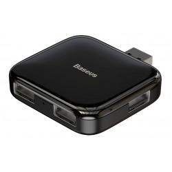 BASEUS USB hub CAHUB-CW01, 4x USB 2.0, 480mbps, μαύρο