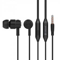 CELEBRAT Earphones CLB-V1-BK με μικρόφωνο, 10mm, 3.5mm, 1.2m, μαύρα