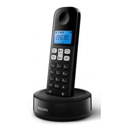 PHILIPS ασύρματο τηλέφωνο D1611B/34, με ελληνικό μενού, μαύρο