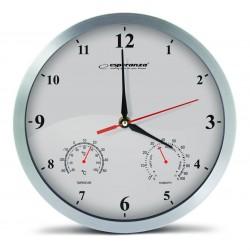 ESPERANZA Ρολόι τοίχου Washington EHC008W, 30cm, λευκό