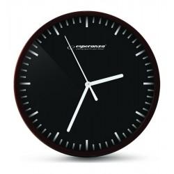ESPERANZA ρολόι τοίχου Budapest EHC010K, 20cm, μαύρο