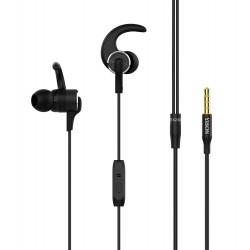 YISON Sports earphones με μικρόφωνο EX230, 10mm, 1.2m, μαύρο