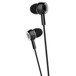 USAMS earphones με μικρόφωνο EP-12, 10mm, 1.2m, μαύρα