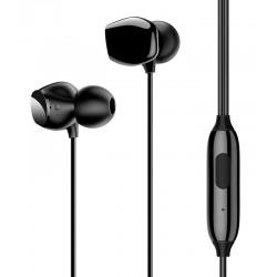 USAMS earphones με μικρόφωνο EP-28, 9mm, 3.5mm, 1.2m, μαύρα