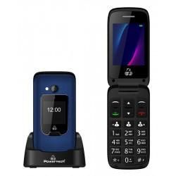 POWERTECH Κινητό Τηλέφωνο Sentry Dual, 2 οθόνες, SOS Call, φακός, μπλε