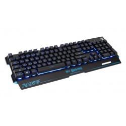 SADES Gaming Keyboard Neo Blademail, RGB Backlit, Membrane
