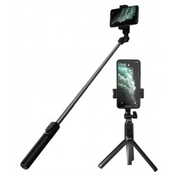 BASEUS bluetooth selfie stick & τρίποδο SUDYZP-F01, μαύρο