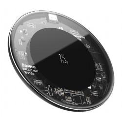 BASEUS ασύρματος φορτιστής Simple WXJK-BA02, USB Type-C, 15W, διάφανος
